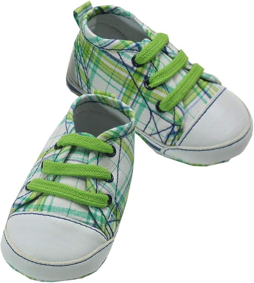 Mayoral - Zapatos de bebé para niño, diseño de cuadros verdes