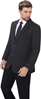 P&L Men's Premium Wool Blend Business Blazer Dress Suit Jacket