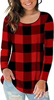 Best red buffalo plaid top Reviews
