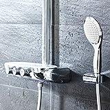 GROHE Duschsystem Rainshower SmartControl 360 DUO Brausen- und Duschsystem mit Thermostatbatterie für die Wandmontage | 26250000 - 3