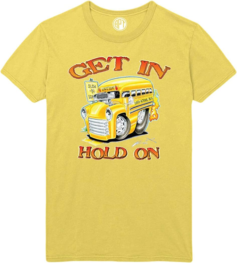 Get in Hold On Printed T-Shirt - Yellow - XLT