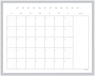 Quartet Dry Erase Calendar Board, Whiteboard / Whiteboard, Magnetic, 16 x 20 inches, Aluminum Frame (63537)
