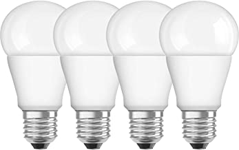OSRAM LED SUPERSTAR CLASSIC A / LED lamp, classic bulb shape, with screw base: E27, Dimmable, 9 W, 220…240 V, 60 W replacement, frosted, 2700 K, 4x1pack
