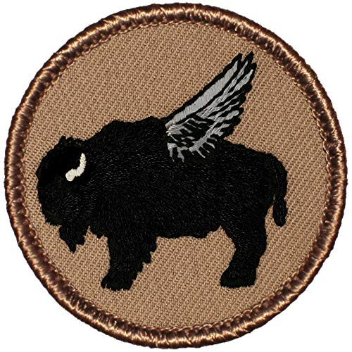 """Flying Black Buffalo Patrol Patch - 2"""" Round Embroidered Patch"""