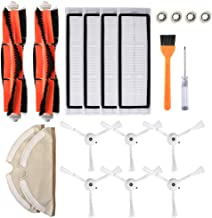 Goolsky Robotic Vacuum Cleaner Filters Side Brushes Main Brush Kit 20pcs Replacement Accessories for XI-AO-MI Roborock S55...