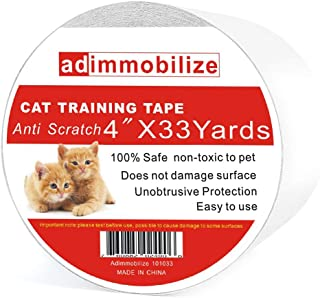 adimmobilize Anti-Scratch Cat Training Tape for Furniture,Couch,Door,Carpet,Leather,Clear, Removable,Residue-Free,Non-Toxic