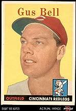1958 Topps # 75 Gus Bell Cincinnati Reds (Baseball Card) Dean's Cards 3.5 - VG+ Reds
