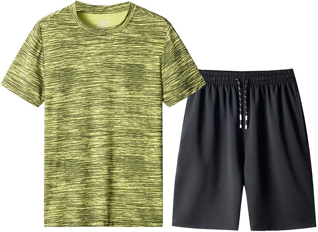 Men's Summer Leisure Fashion Camouflage Printing Short Sleeve Shorts Sports Sets