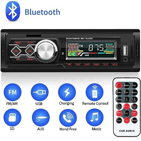 Handsender Bluetooth Autoradio 1 Din Stereo Auto 4 X Elektronik