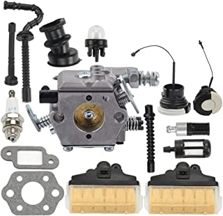 Hayskill MS250 MS210 Carburetor w Air Filter Fuel Oil Line Tune Up Kit for Stihl 021 023 025 MS230 Chainsaw Carb Replace WT-286 WT-215 C1Q-S11E C1Q-S11G 1123-160-1650