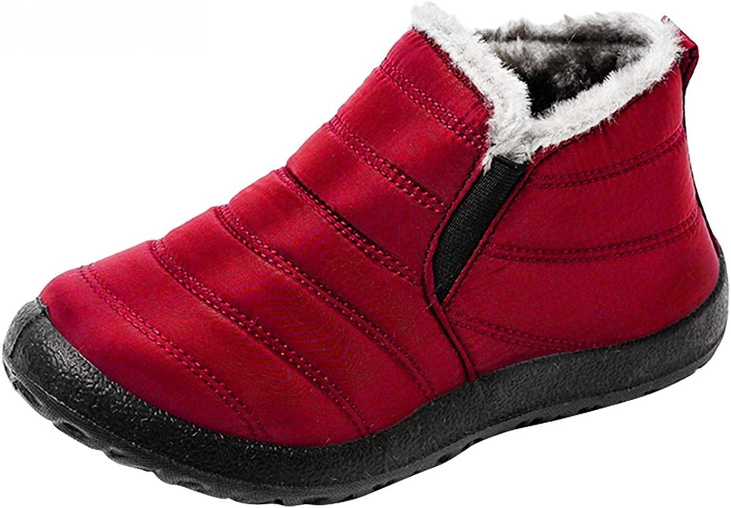 Gibobby Womens Winter Snow Boots Fur Lined Warm Ankle Boots Slip