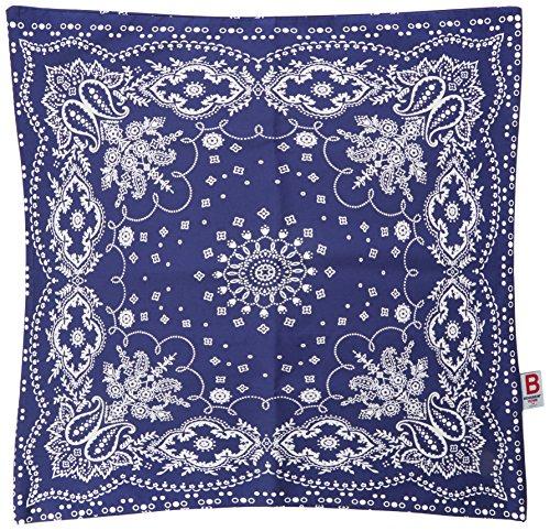 Essix x Bensimon - Taie d'oreiller Bandana Percale de Coton Bleu 64 x 64 cm