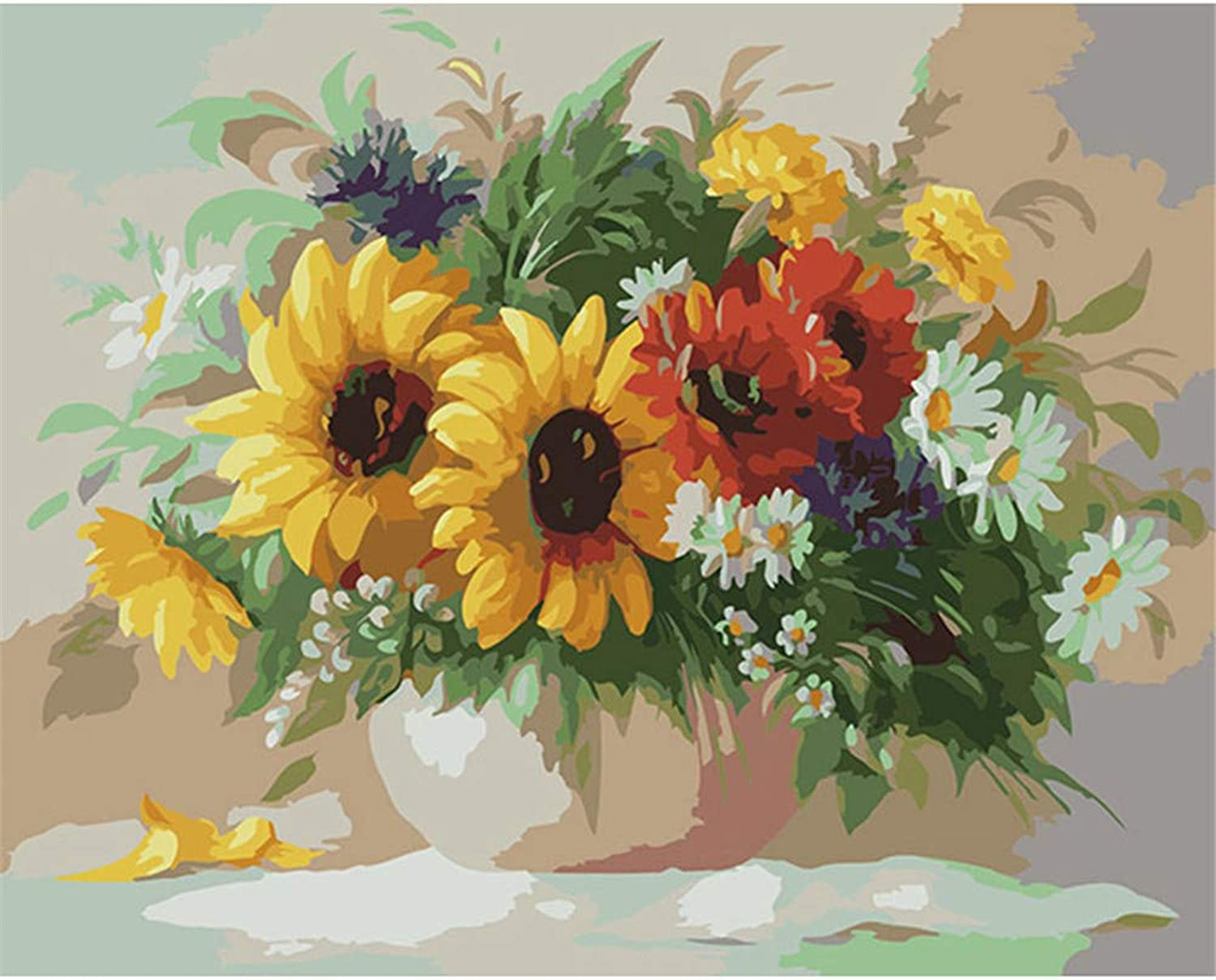 Jigsaw Puzzle 1000 Piece Yellow Daisy Classic Puzzle DIY Kit Wooden Toy Unique Gift Home Decor