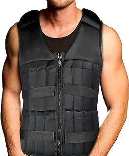 Portzon Adjustable Weighted Vest, 10lbs, 15lbs, 20lbs Comfortable Thin Steel Running Vest