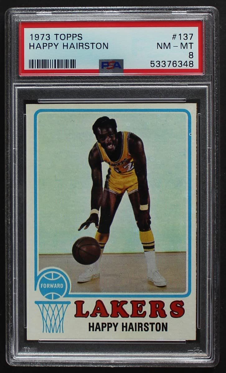 1973 Topps # 137 Happy Hairston Los Angeles Ranking TOP2 Lakers Basketball C Japan Maker New