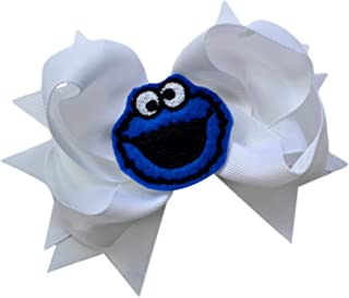 cookie monster hair bow