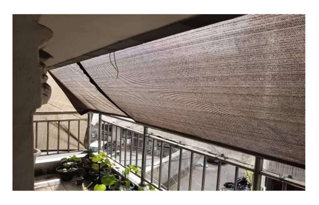 YSHCA 95% Paño de protección Solar, Sombras de Polietileno para Trabajo Pesado Cubiertas de Plantas Pérgola de la Piscina de la Perrera de Greenhouse Barn o Piscina,Coffee_9x12ft/3x4m: Amazon.es: Hogar