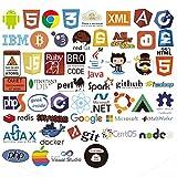 フロントエンド開発の開発者プログラミングステッカーのためのラップトップステッカー、ソフトウェア開発者、エンジニア、ハッカー、プログラマー、オタク、コーダー用のバックエンド言語ステッカー(50pcs) (b)