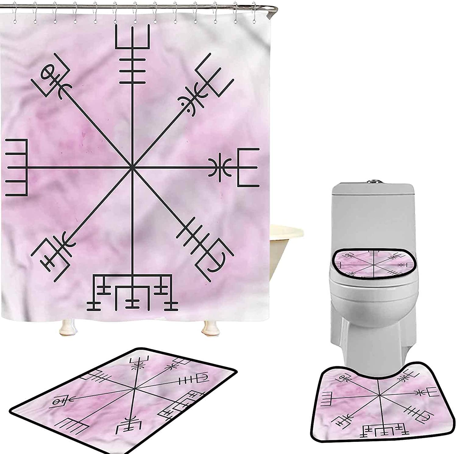 Hiiiman Shower Curtain Sacramento Mall with 12 Hooks Occult Color Deluxe Pastel Durable
