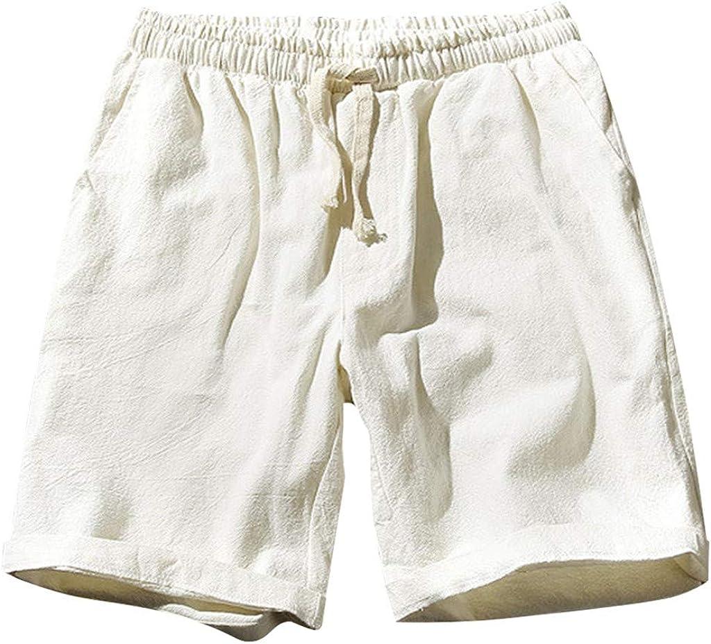 GREFER-Mens Nashville-Davidson Mall Fashion Regular dealer Cotton Linen Short Plus Pants Comfortable -