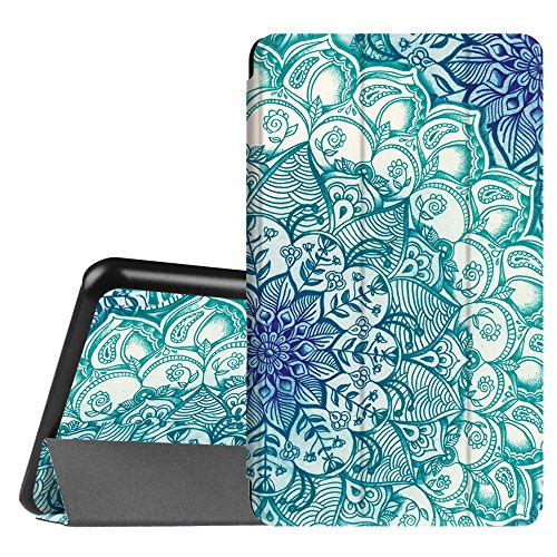 Fintie Hülle für Samsung Galaxy Tab A 7.0 Zoll SM-T280 / SM-T285 Tablet (2016 Version) - Ultra Schlank Superleicht Ständer Slim Shell Case Cover Schutzhülle Etui Tasche, smaragdblau