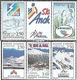 Prophila Collection Andorra - francés Correos Michel.-No..: 446-450 Banda de Tres (Completa.edición.) 1993 Skigebiete (Sellos para los coleccionistas) Deportes de Invierno