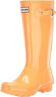 Hunter Kids Original Kids' Gloss Rain Boot (Little Kid/Big Kid) Flamingo Tongue 2 Little Kid