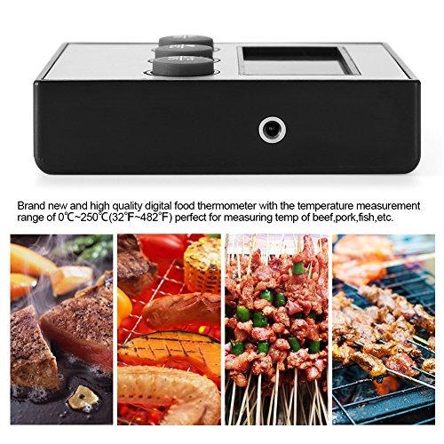 Digitale thermometer, LCD digitaal display, temperatuurweergave van de voedselthermometer met sonde, keuken, koken, bakken, grillen
