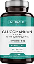 Glucomannan Weight Loss Appetite Suppressant 100 Natural Glucomannan Konjac with Choline Bitartrate Chromium Picolinate and Vitamins B3 and D3 120 Vegetable Capsules Nutralie Estimated Price : £ 15,90