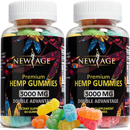 New Age Naturals Advanced Hemp Big Gummies 3000mg - 120ct - 100% Natural Hemp Oil Infused Gummies