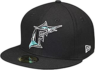 New Era 59Fifty Hat Florida Marlins Cooperstown 1993 Wool Black Fitted Headwear Cap (7 5/8)