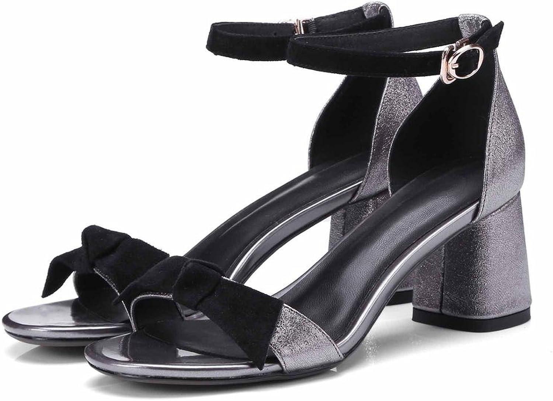 CXKS Knöchelriemen Heels Frauen Sandalen Sommer Schuhe Open Open Open Toe Chunky High Heels Party Dress  c37116