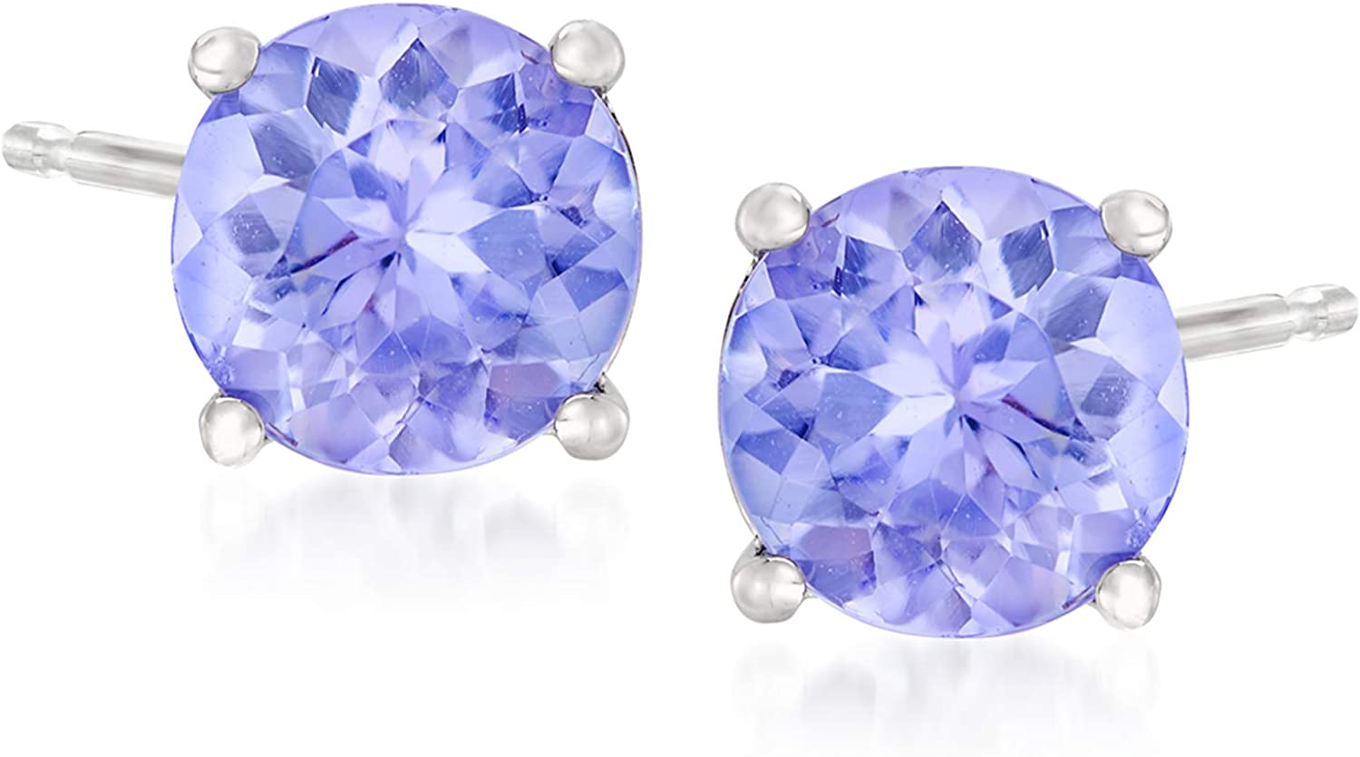 Ross-Simons 0.95 ct. Virginia Beach Mall t.w. Tanzanite in Max 61% OFF White 14kt Earrings Stud