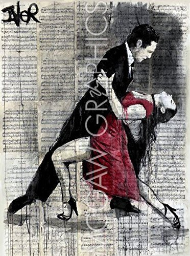 Midnight Tango by Loui Jover, Art Print Poster 14 x 11 by Bruce McGaw Graphics