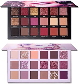 2Pcs Twilight Dusk + Aromas The New Nude Eyeshadow Palette Makeup Set, Matte Shimmer Glitter Pressed Pearl All Highly Pigm...
