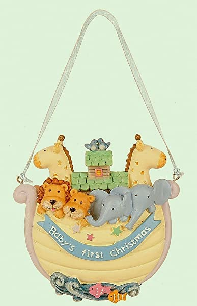 Midwest Baby S 1st Christmas Noah S Ark Ornament 4 Inches