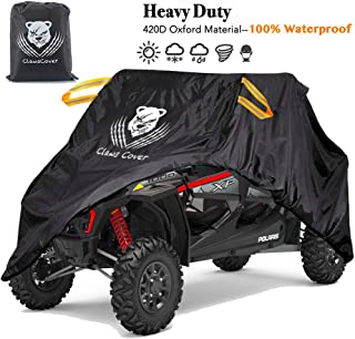 UTV Covers Waterproof All Weather 159 Inch XXL 4-6 Passengers Heavy Duty 420D Oxford Cloth Windproof ATV Side by Side UTV Accessories for Polaris RZR Ranger Yamaha Can-Am Defender Kawasaki Mahindra
