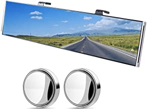 Wide Angle Car Rear View Mirror, Anti-Glare Universal Interior Clip On RearView Mirror for Car, SUV, Truck (30 cm x 8 cm, 11.8