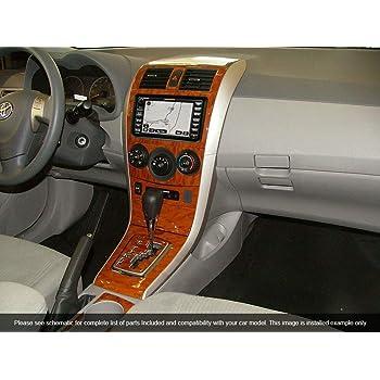 Amazon Com Toyota Corolla Interior Burl Wood Dash Trim Kit Set 2003 2004 2005 2006 2007 2008 Automotive