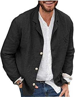 Tuimiyisou Men's Blazer Jacket Loose Open Front Long Sleeve Blazer For Spring Autumn Black 3xl