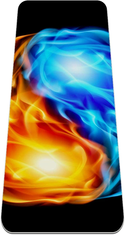 High order AISSO Fire Water Chinese Yin Yang Non Mat Slip Exerci Yoga Brand Cheap Sale Venue Thick