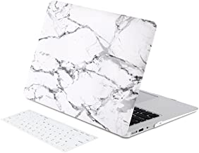 Zinmark 11 Inch Laptop Case Cover, Compatible with 11.6 Inch MacBook Air A1370 / A1465, Plastic Folio Hard Cover Case - White Marble
