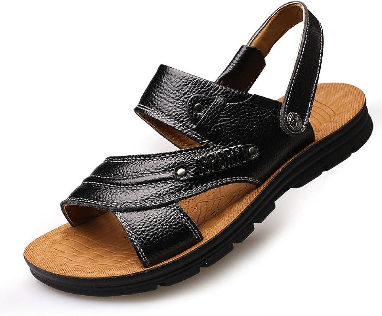 Mans Mans Mans strand skor Sandals Mode Open Toe Casual Wild Mans skor, svart -40  gör rabattaktiviteter