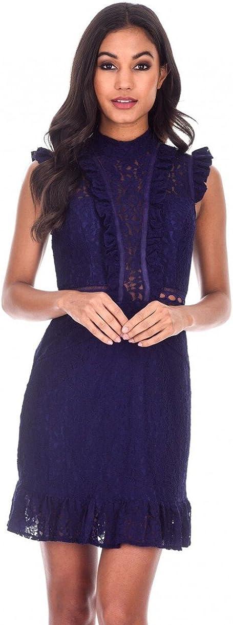 AX Paris Women's Lace Frill Detail Dress