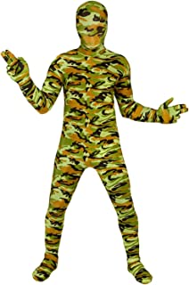 Commando Kids Morphsuit Costume - size Small 3'-3'5 (91cm-104 cm)