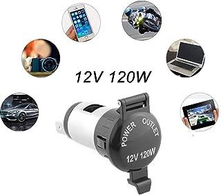 Cigarette Lighter Socket, Golden^Li Universal 12V 120W Splitter Power Adapter Plug Outlet Parts for Car Boat Tractor Motorcycle