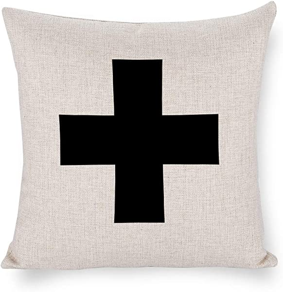 TINA R Swiss Cross 18x18 Inch Pillow Cover Everyday Throw Pillow Gift Accent Pillow Cushion Cover