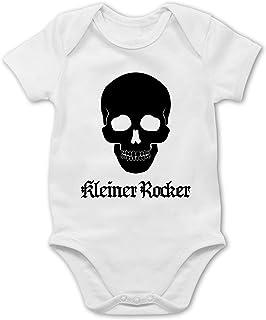 Shirtracer Strampler Motive - Kleiner Rocker Totenkopf - Baby Body Kurzarm für Jungen und Mädchen