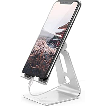 Lomicall スマホ スタンド ホルダー 角度調整可能, 携帯電話卓上スタンド : 卓上 充電スタンド,Lomicall スマホ スタンド ホルダー 角度調整可能, 横, 縦, 携帯電話卓上スタンド : 卓上 充電スタンド, スマフォスタンド, アイフォンデスク置き台, aluminium, Nintendo Switch 対応, アイフォン, アンドロイド, iPhone 11, 11 Pro , 11 Pro Max, 11 プロ マックス XS XS Max XR X 8 plus 7 7plus 6 6s 6plus 5 5s, Redmi Note 8 9 10 pro mi, huawei p20 p30 lite, Sony Xperia, Nexus, android対応