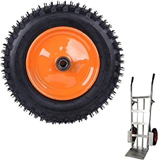 YJJT Vervangende zwenkwiel, Trolley wiel Heavy Duty, Rubber opblaasbare wielen, Lager binnendiameter 20 mm, 4/5 inch, Bela...
